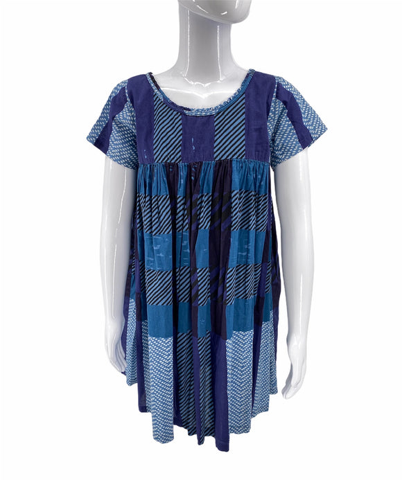 Burberry Blue Plaid Dress - Girls