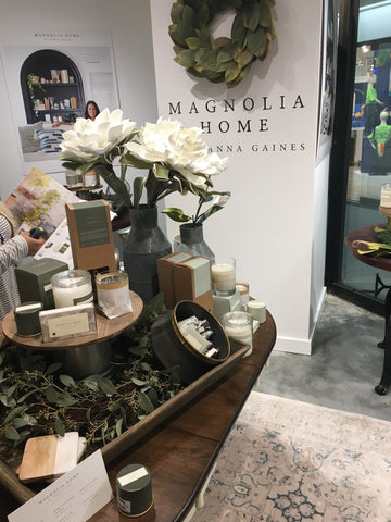 Magnolia Home candle display