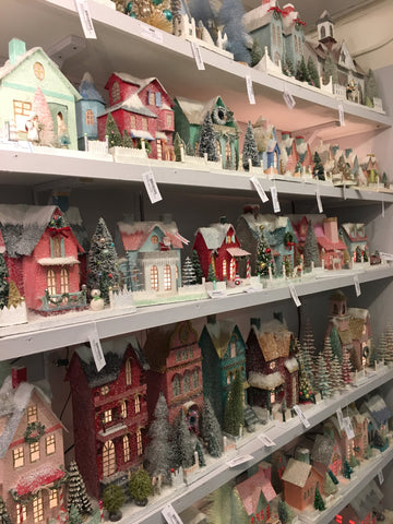 pastel christmas houses in cody foster
