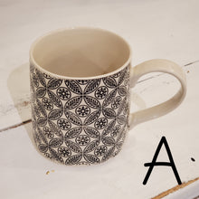 Black & Cream Embossed Mug