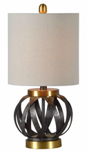 Metal and Gold Lamp