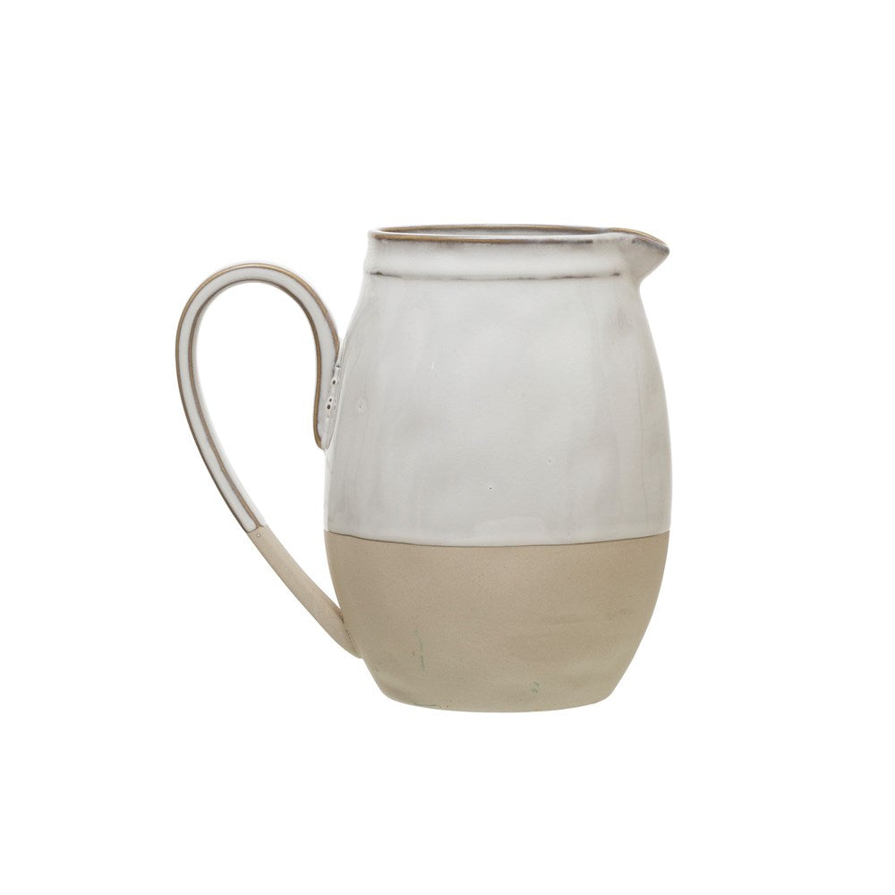 Stoneware Pitcher w Reactive Glaze