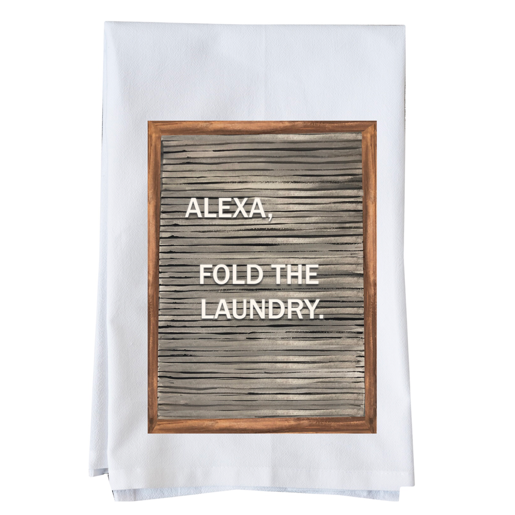 Alexa, fold the laundry towel