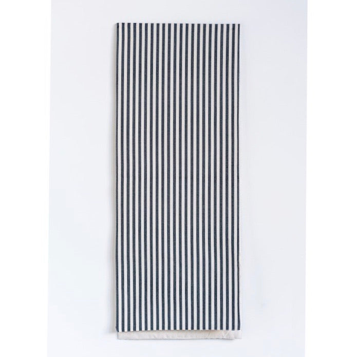 Black striped table runner