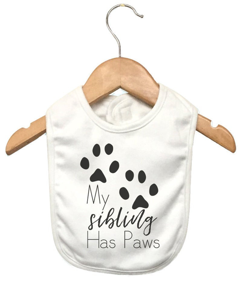 My sibling has paws bib
