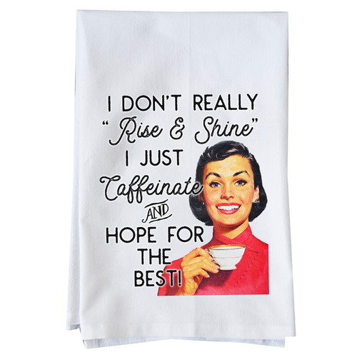 Caffeine kitchen towel