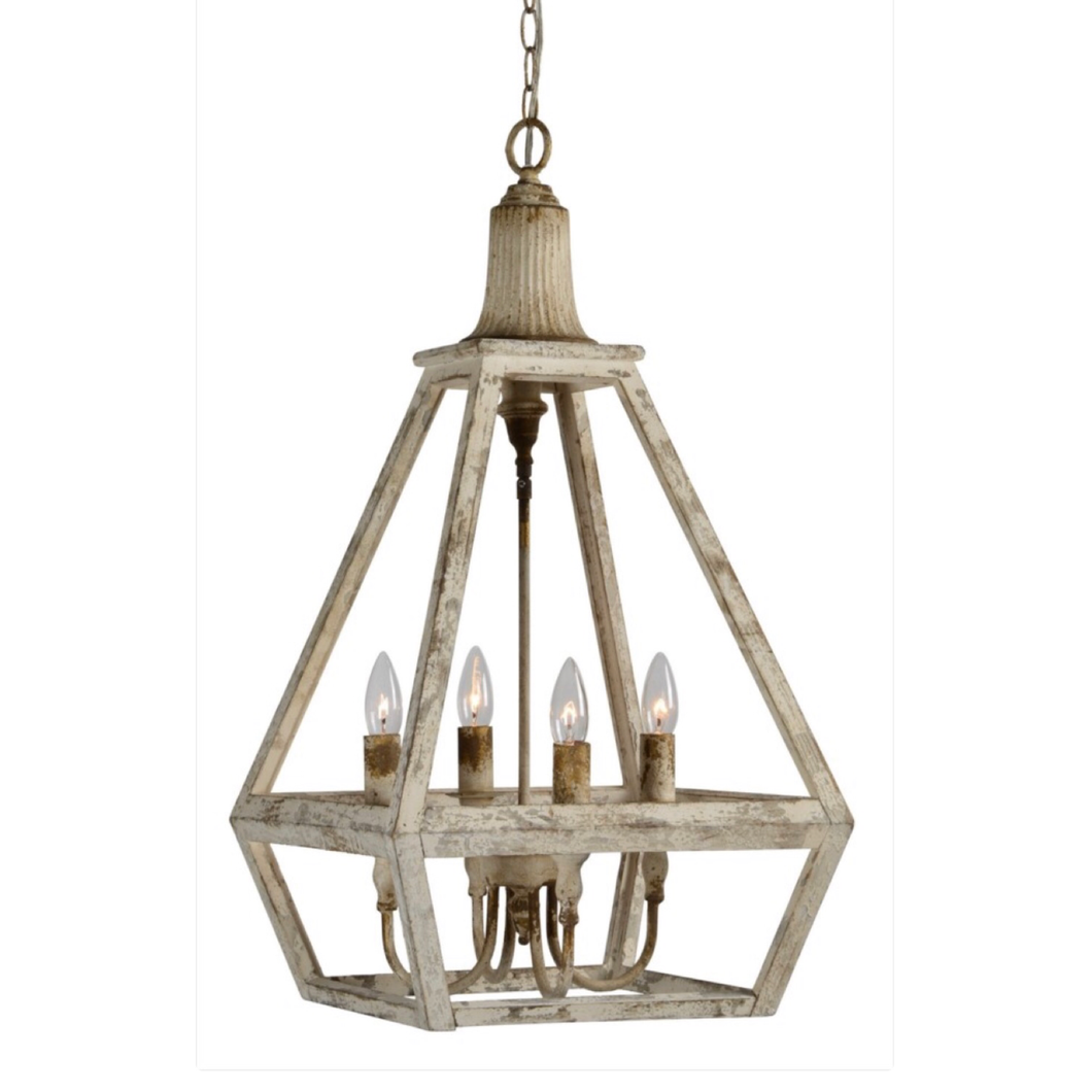 4 light angled chandelier