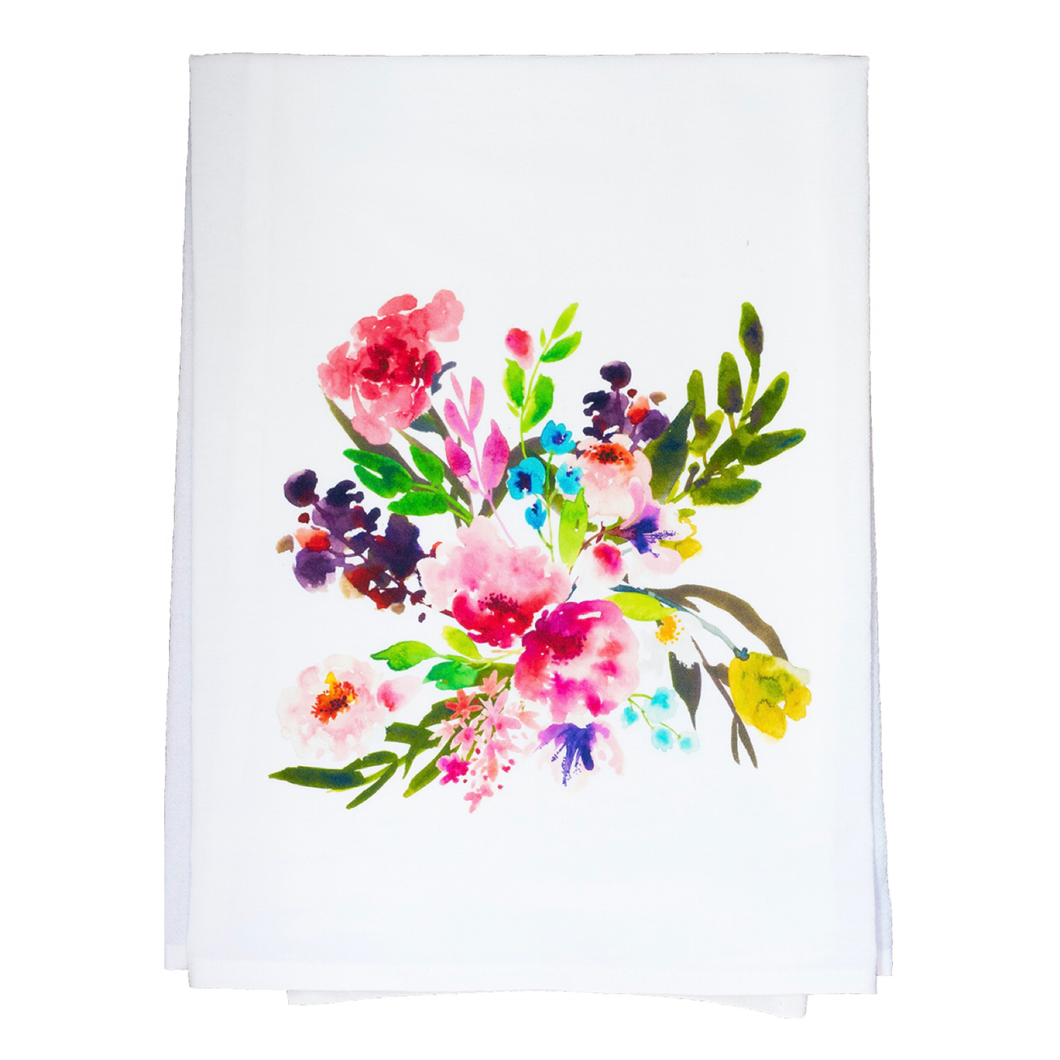 Floral kitchen towel