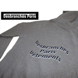 Grey DBP hood hoodie by Desbranches Paris