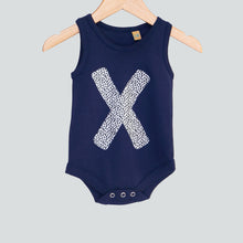 baby onesie vest navy with monochrome print