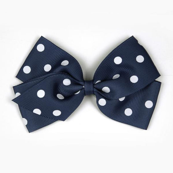 Large Peacoat Polka Dot Hair Clip