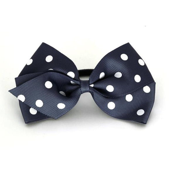 Large Peacoat Polka Dot Hair Elastic