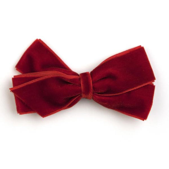 Medium Scarlet Velvet Hair Clip