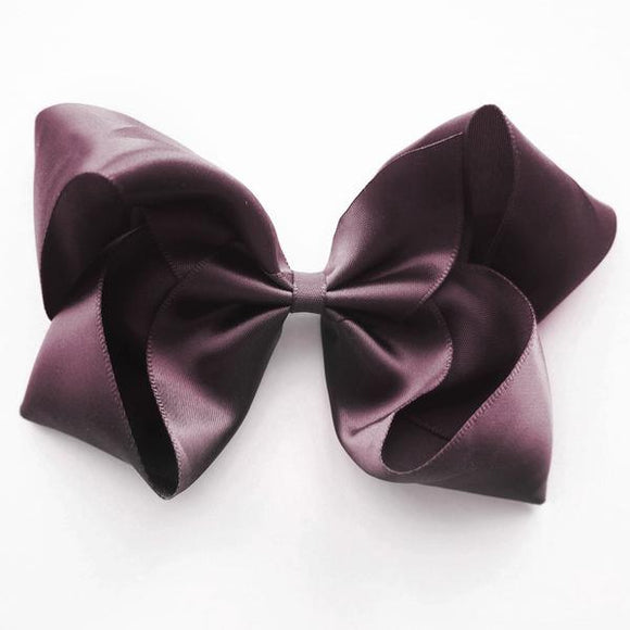 Large Burgundy Satin Hair Clip