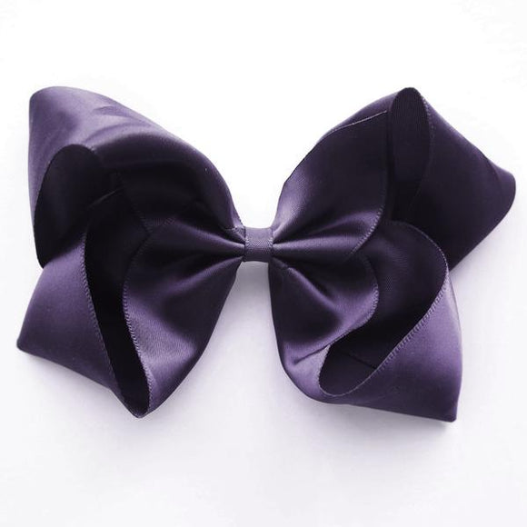 Large Shadow Plum Satin Hair Clip