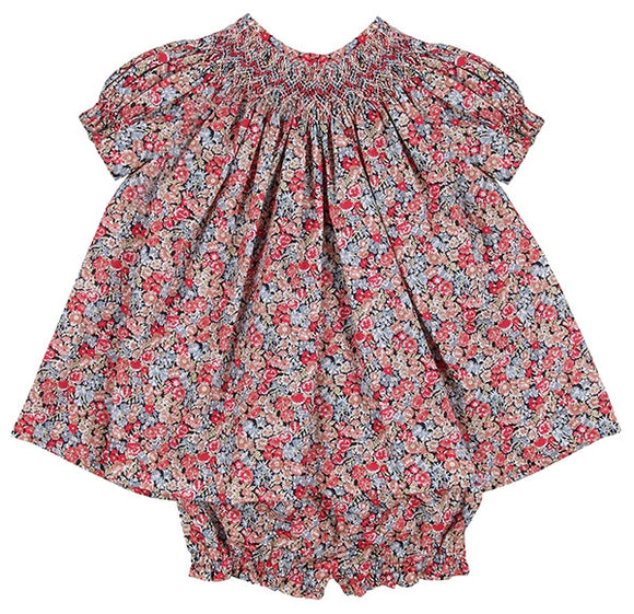 Baby Red Liberty Floral Set