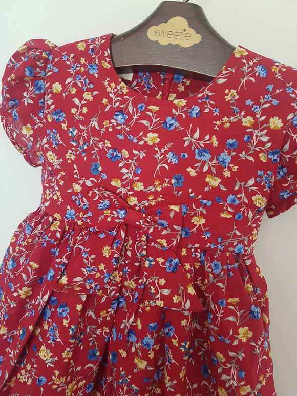 Bia Red Floral Dress