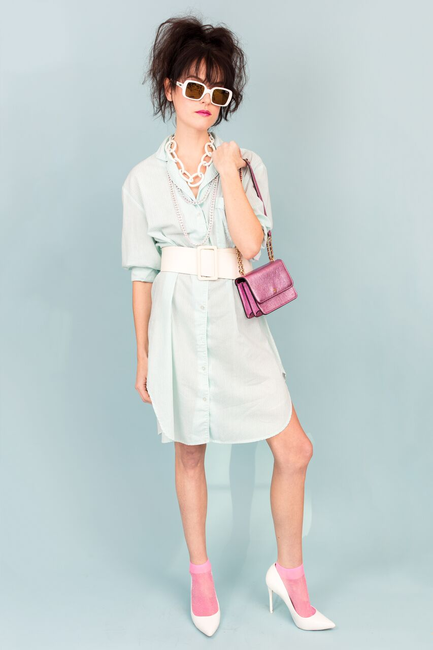 Mint Julip Shirt Dress
