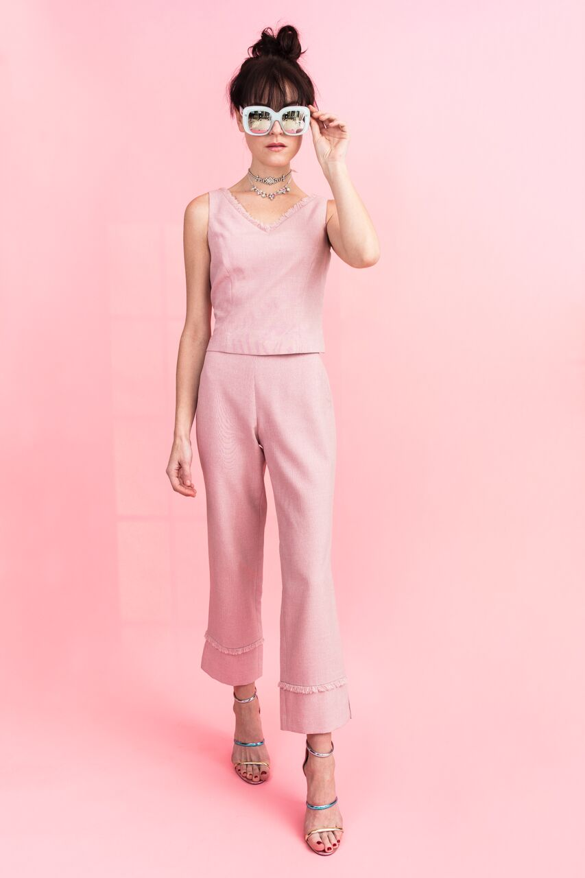 Candy Safari Cropped Trousers