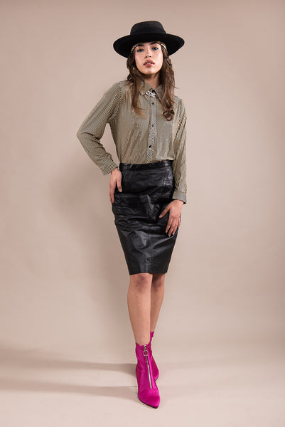 Kryptonite Leather Skirt