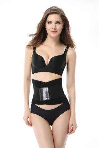 Waist Trainer Belt with Dual Straps, Lightweight Body Shaper (Black)