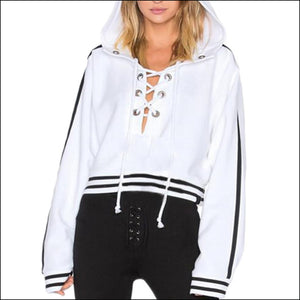 Abigail Lace Up Sweat Shirt - Echo90210
