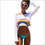 Rainbow High Cropped Sweater - Echo90210