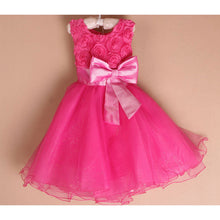 Pink Rosette dress with Bow