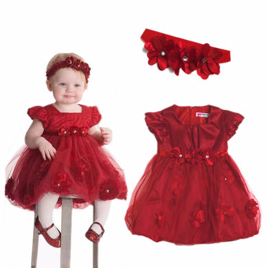 Baby Girls Tutu Dress and Headband