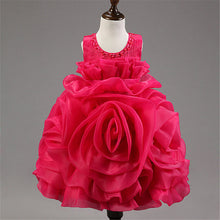 Rose Dress pleated round neck