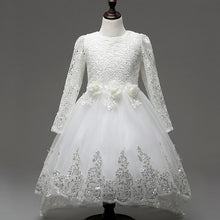 Girls White Sparkle Dress