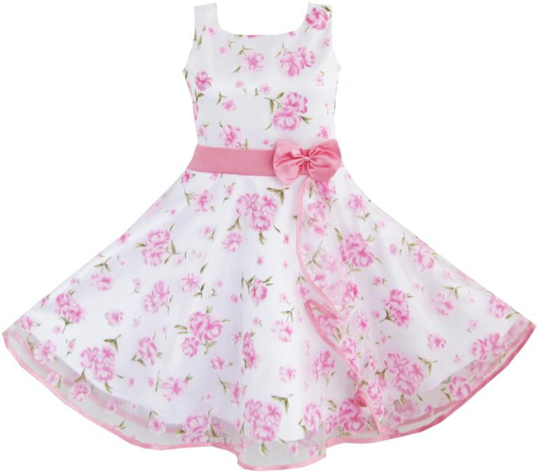3 Layers Pink flower dress