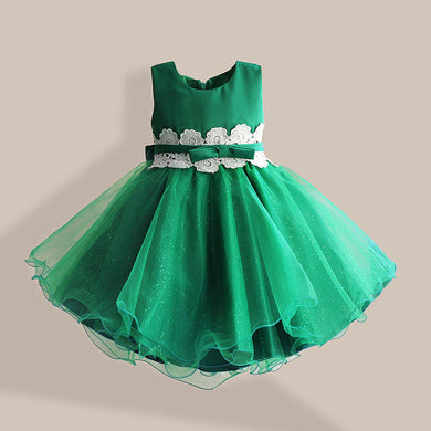 Forrest Green tulle dress