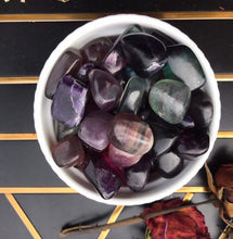 Rainbow Fluorite & Purple Fluorite tumbled stones|chakra stones|gemstones|wholesale|bulk crystals
