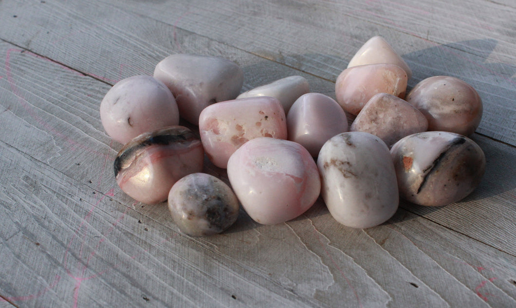 Rare Pink Opal Tumbles From Peru |tumbled crystals|pocket stone|Tumbled gemstone|