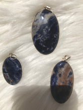 Large sodalite pendants  In Sterling Silver-You choose