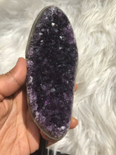 Rare Dark PurpleAmethyst Cluster in stand 4