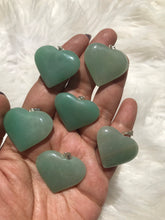 One Green aventurine heart pendant