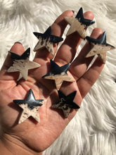 One Fossilized Palmroot Star cabochons