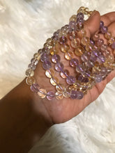One 8mm ametrine  beaded gemstone Bracelet