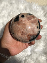 XL Black Tourmaline Feldspar Sphere 6