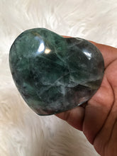 Blue Green Fluorite Heart -6