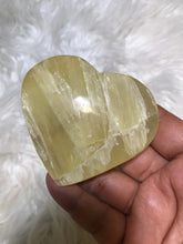 Yellow Calcite  Heart -7