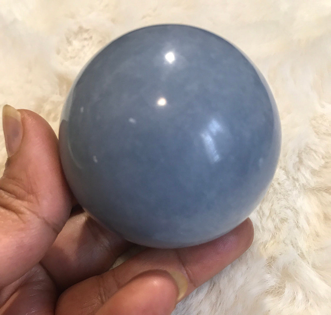 Angelite sphere 3