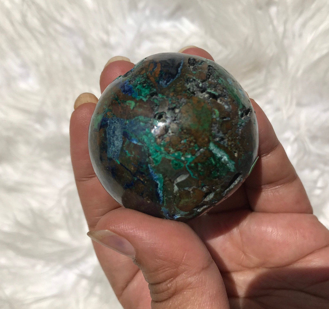 Extremely Rare Azurite Sphere 2