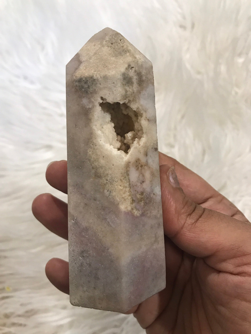 Large Pink Amethyst Point 4