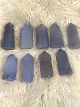 Lovely Blue chalcedony Crystal Point 2 greater than 2 inches