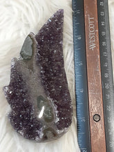 Large Amethyst Druzy Angel Wing or flame 3