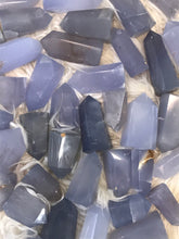 One Blue chalcedony Crystal Point