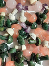 One rose Quartz green aventurine  Mushroom